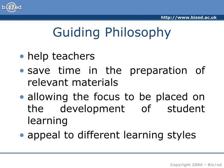 Guiding Philosophy