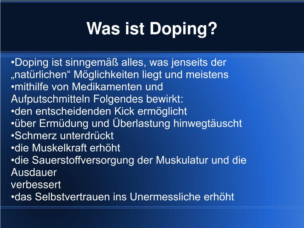 Was Ist Doping