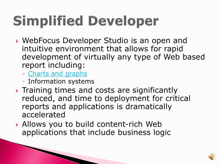 Simplified Developer
