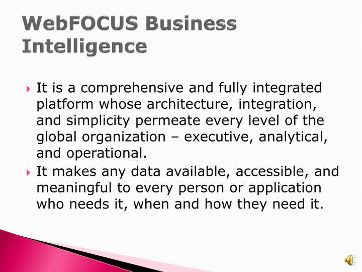 Webfocus business intelligence