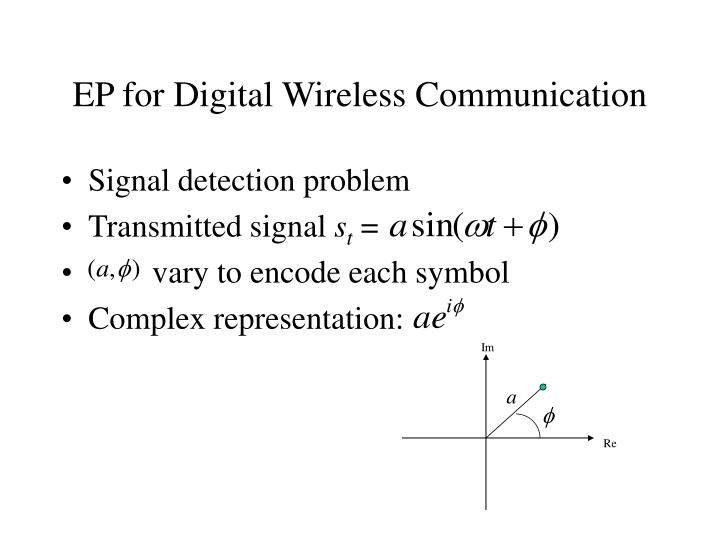 EP for Digital Wireless Communication