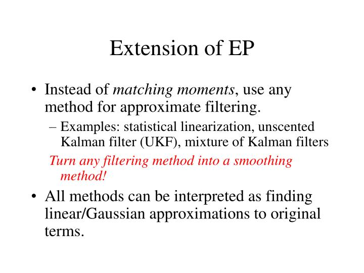 Extension of EP