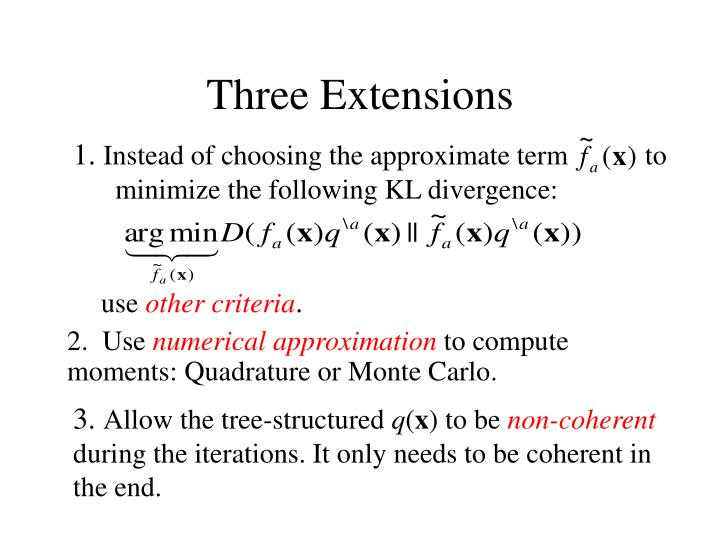 Three Extensions