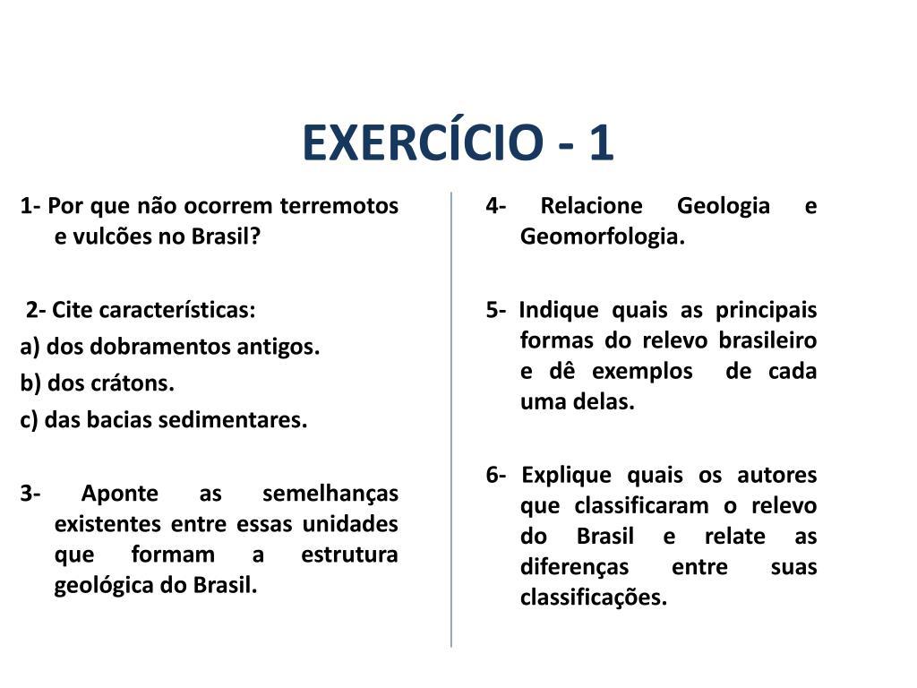 Ppt A Estrutura Geológica Do Brasil E Sua Relação Com A