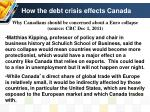 how the debt crisis effects canada1