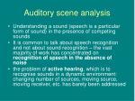 auditory scene analysis