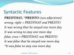 syntactic features4