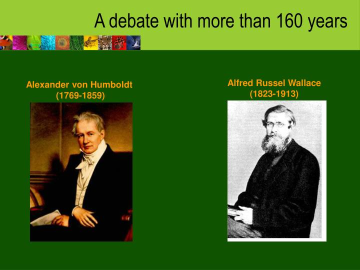 A debate with more than 160 years
