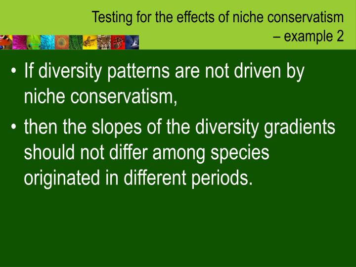 Testing for the effects of niche conservatism