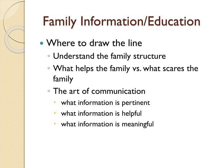 Family Information/Education
