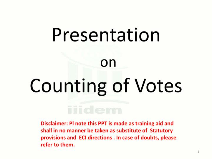 presentation on counting of votes n.