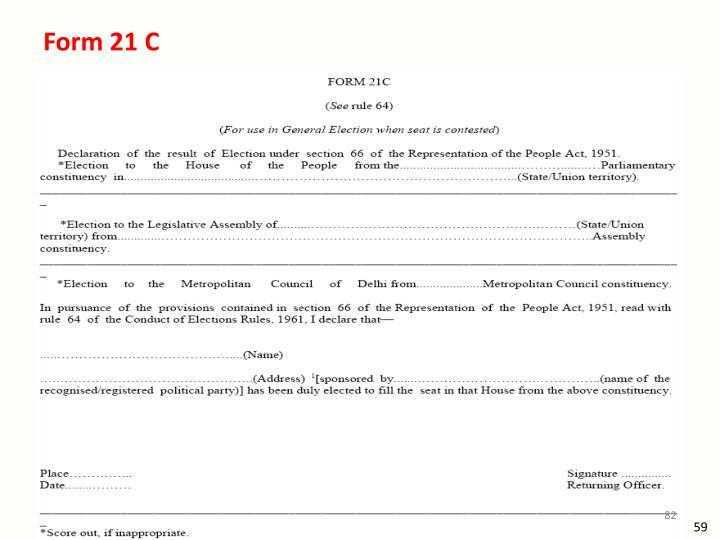 Form 21 C