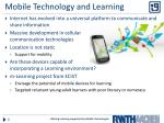 mobile technology and learning