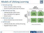 models of lifelong learning