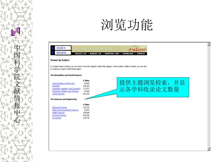 Proquest dissertations search powerpoint