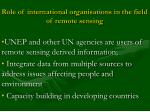 role of international organisations in the field of remote sensing