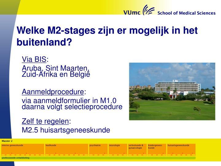 Welke M2-stages zijn er mogelijk in het buitenland?