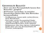 gegoogelte realit t
