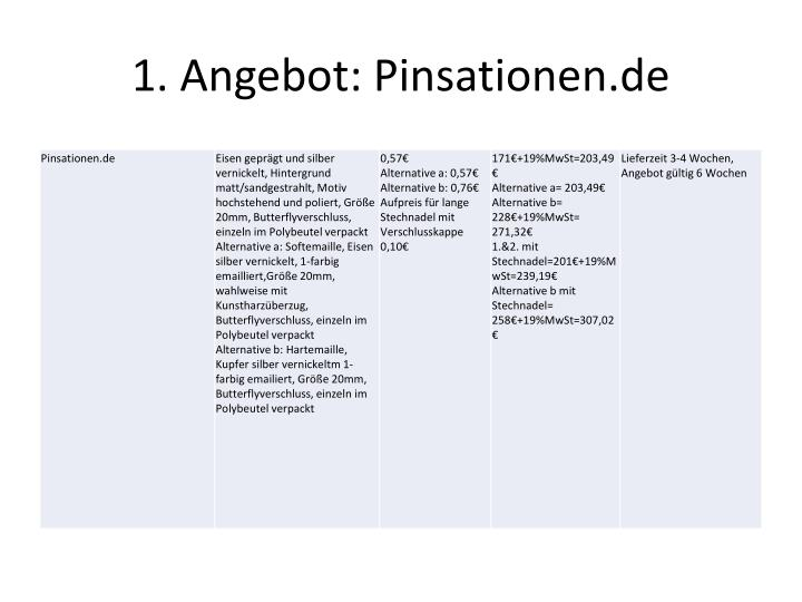1 angebot pinsationen de