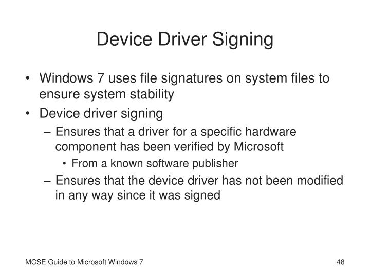 Device Driver Signing