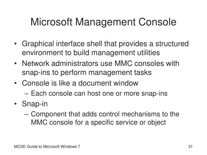 Microsoft Management Console