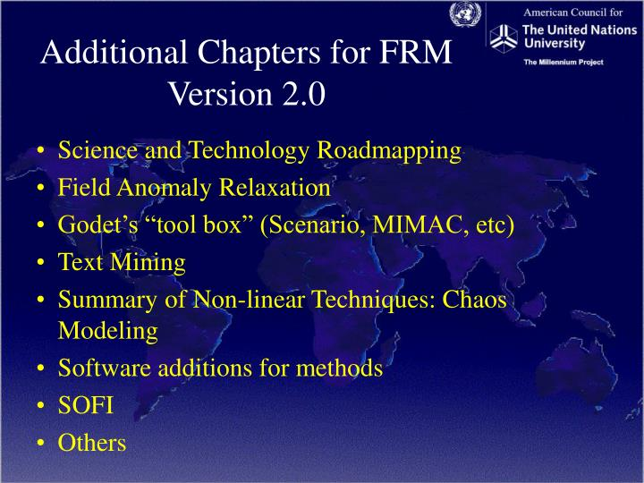 Additional Chapters for FRM Version 2.0