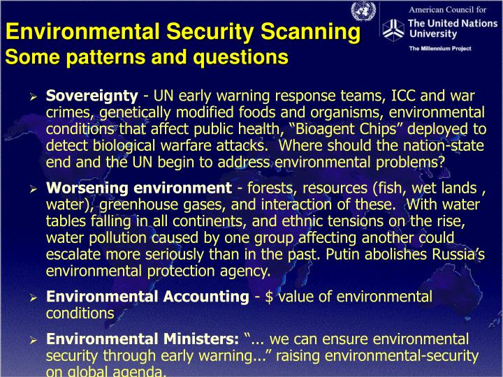 Environmental Security Scanning
