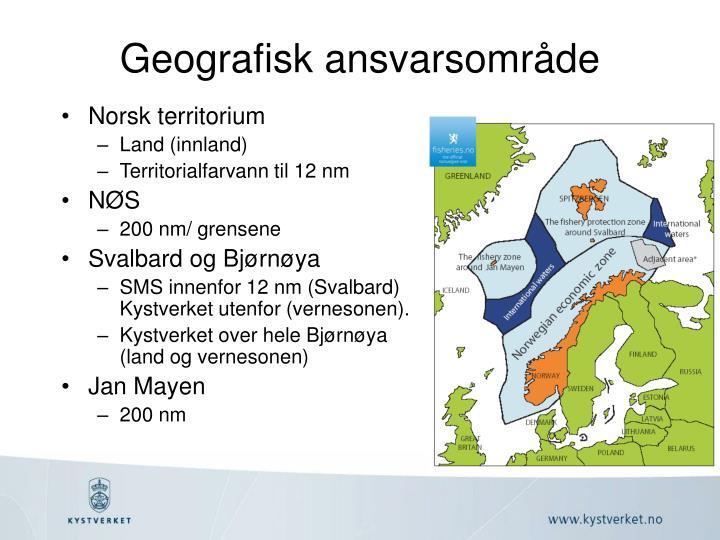 Geografisk ansvarsområde