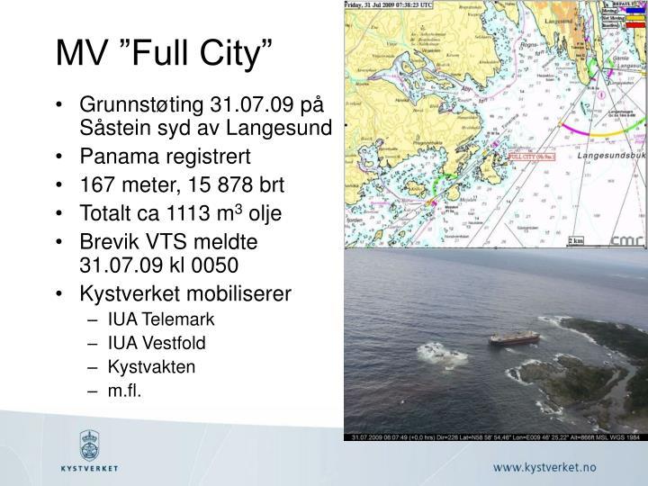 """MV """"Full City"""""""