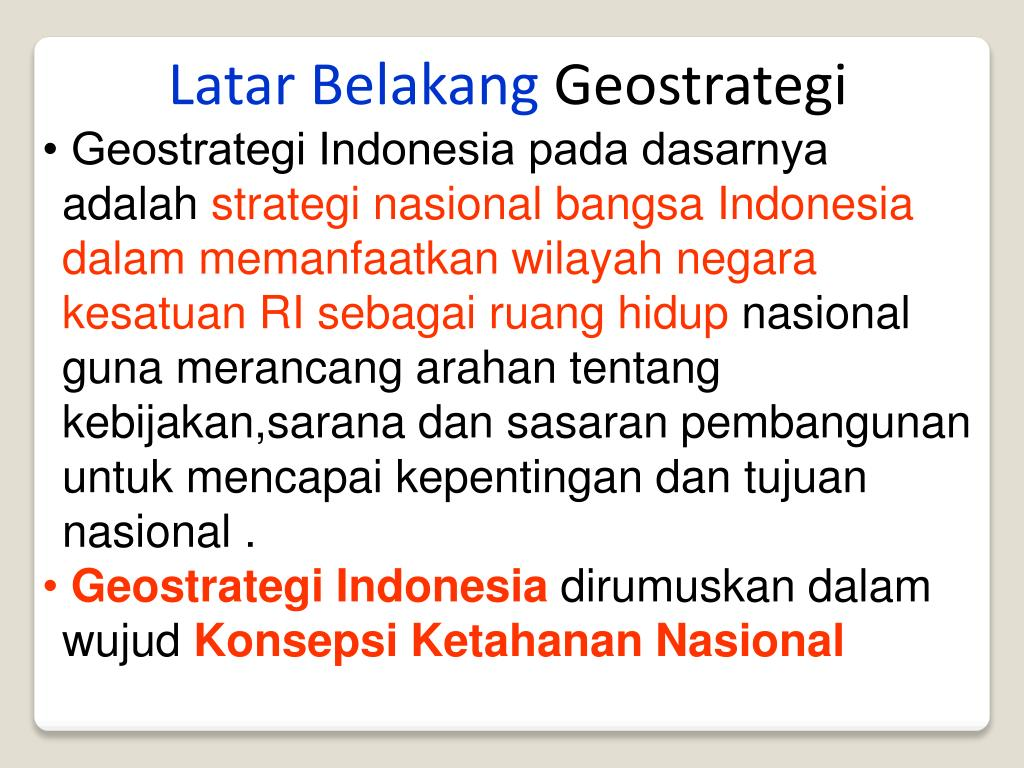 PPT - pendidikan Kewarganegaraan Pokok bahasan : Geostrategi