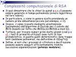 complessit computazionale di rsa