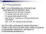 crittosistema