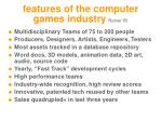 features of the computer games industry reiner 05