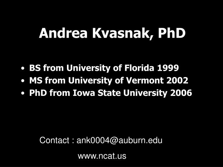 Andrea Kvasnak, PhD