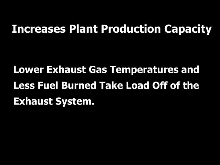 Increases Plant Production Capacity