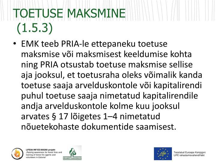 TOETUSE MAKSMINE