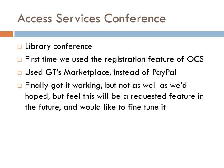 Access Services Conference