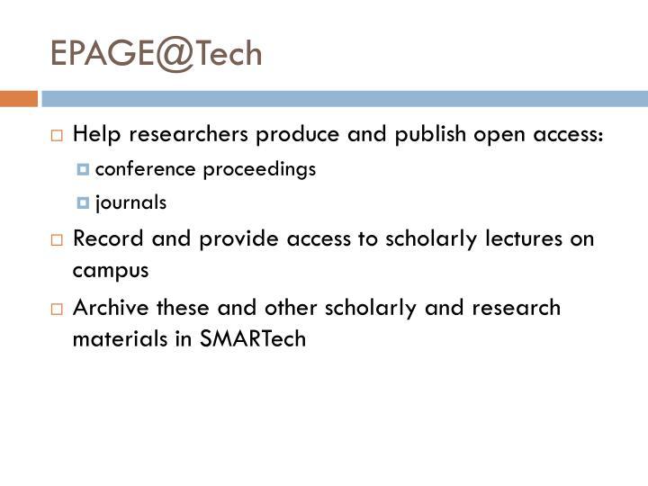 EPAGE@Tech