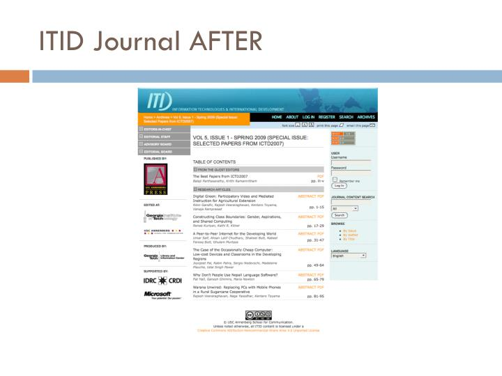 ITID Journal AFTER