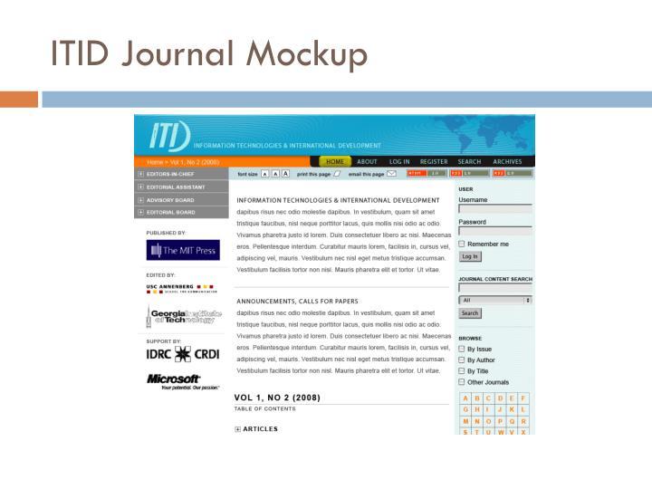 ITID Journal Mockup