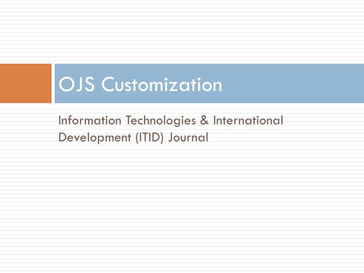 OJS Customization