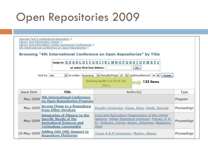 Open Repositories 2009