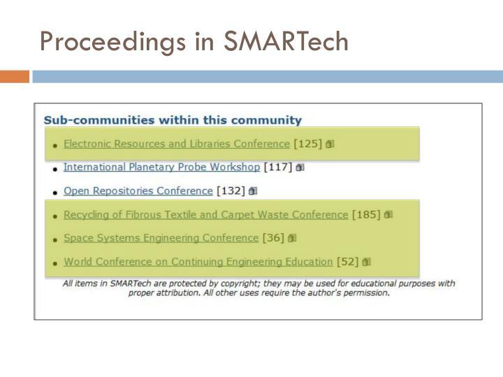 Proceedings in SMARTech