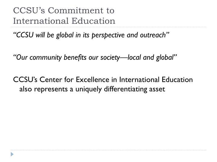 CCSU's Commitment to