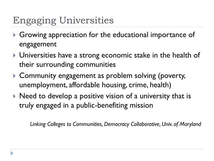 Engaging Universities