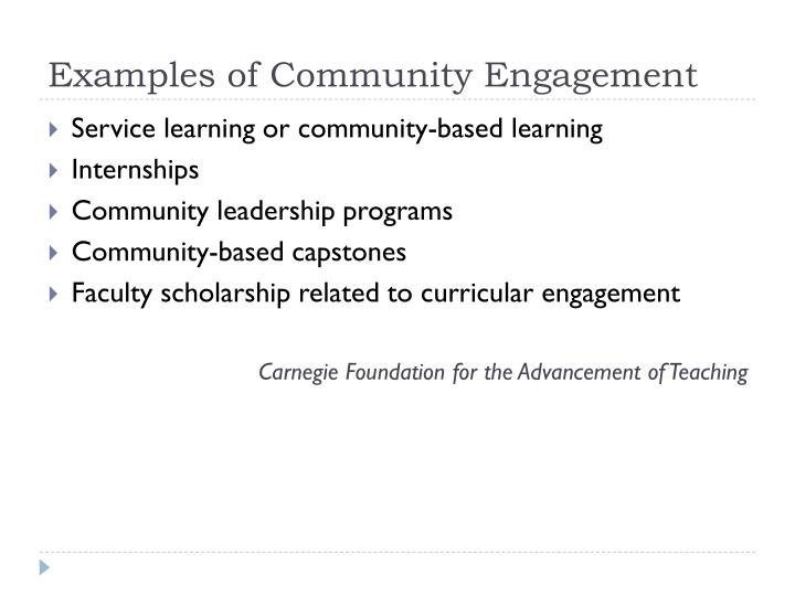 Examples of Community Engagement