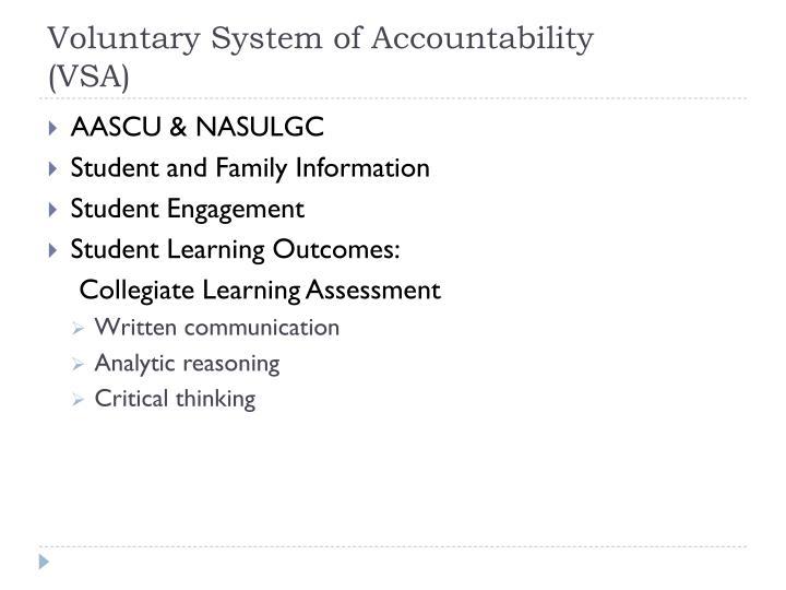 Voluntary System of Accountability