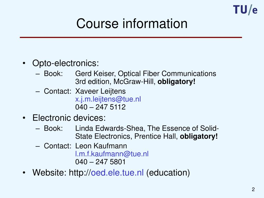 PPT - Semiconductor devices and opto-electronics PowerPoint