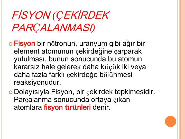 FİSYON
