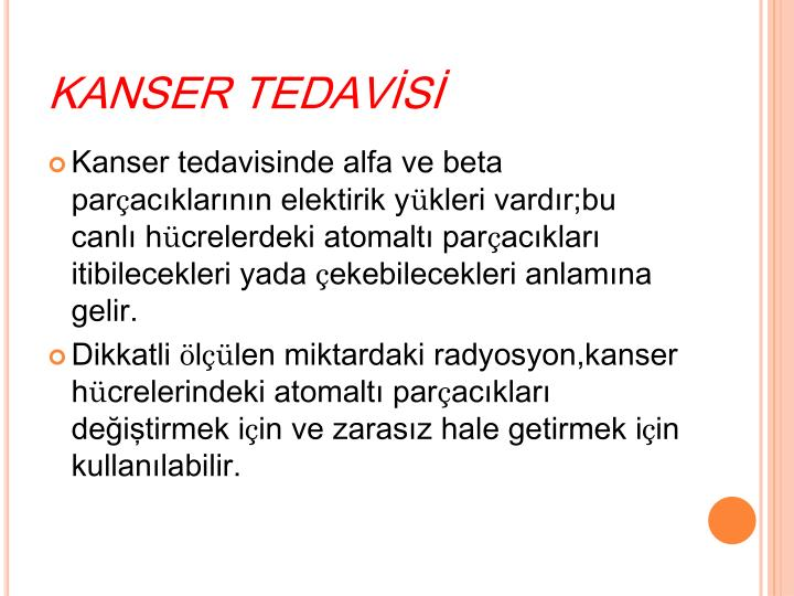 KANSER TEDAVİSİ